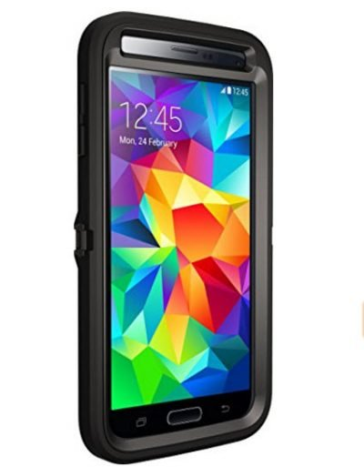 New Samsung Galaxy S5 Case Otterbox Defender Rugged Protective Case with Belt Clip - Black - image SGS51-400x513 on https://obumex.com