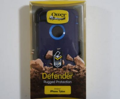 Blue Otterbox Defender iPhone 7 Plus case with Rugged Protection and Belt Clip