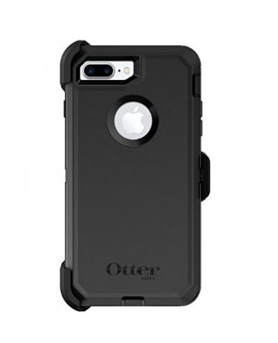 Black Otterbox Defender iPhone 7 Case Cover - Rugged Protection - Holster Belt Clip