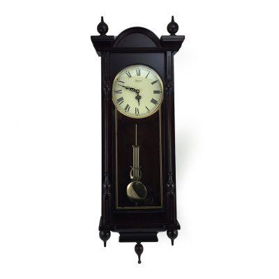 Bedford Wall Clock Grand 31 Antique Mahogany Cherry Oak Chiming Wall Clock