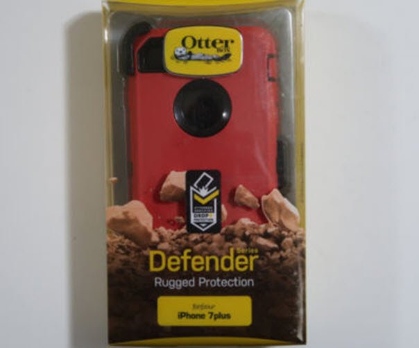 New Red iPhone 7 Plus case - Otterbox Defender Rugged Protection and Belt Clip