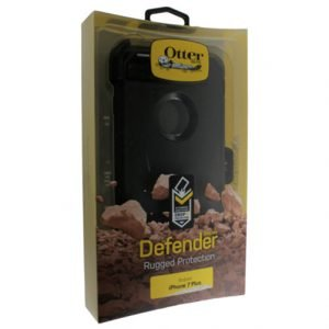 New Black iPhone 7 Plus case - Otterbox Defender Rugged Protection and Belt Clip