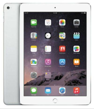 Apple iPad Air 32GB With WiFi Retina Display - Silver & White - image onipadair105-silverfront1-400x460 on http://obumex.com